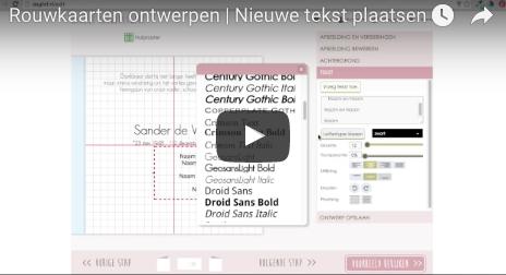 Rouwkaarten ontwerpen - nieuwe tekstblokjes toevoegen