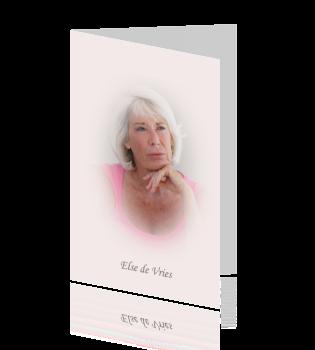 Rouwkaart met vervaagde rand portretfoto